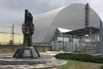 czarnobyl-kokon nad elektrownia